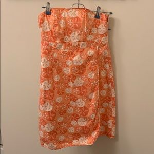 Vineyard Vines strapless printed summer dress